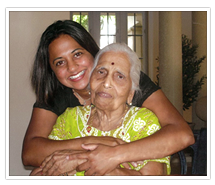 Ambika and her grandmother